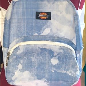 Light blue and white dickies mini backpack